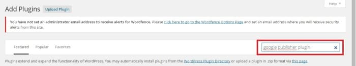 Busca Google Publisher Plugin