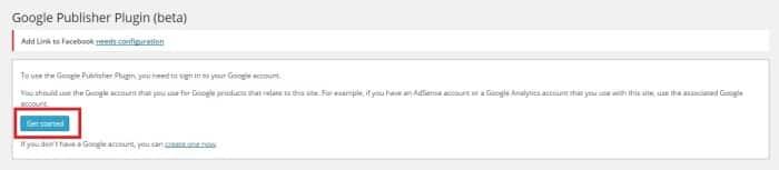 Get Started Google Publisher Plugin